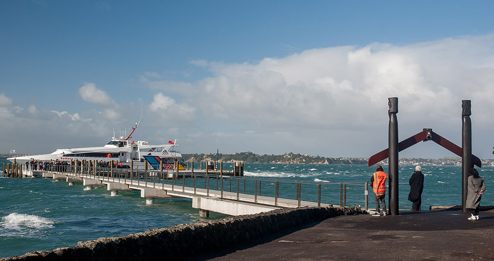 Main wharf at Rangitoto - Photo by Art Polkanov