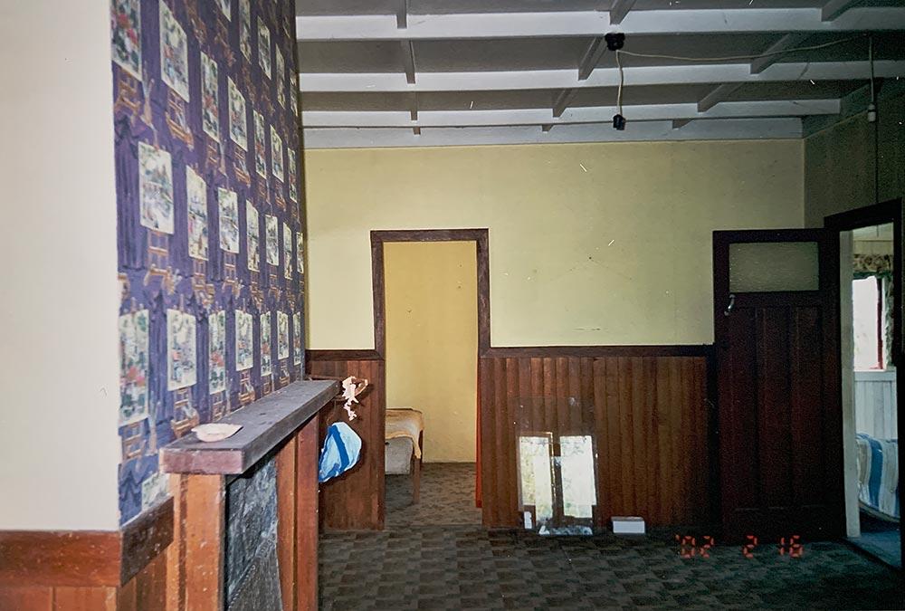 Interior living room before restoration