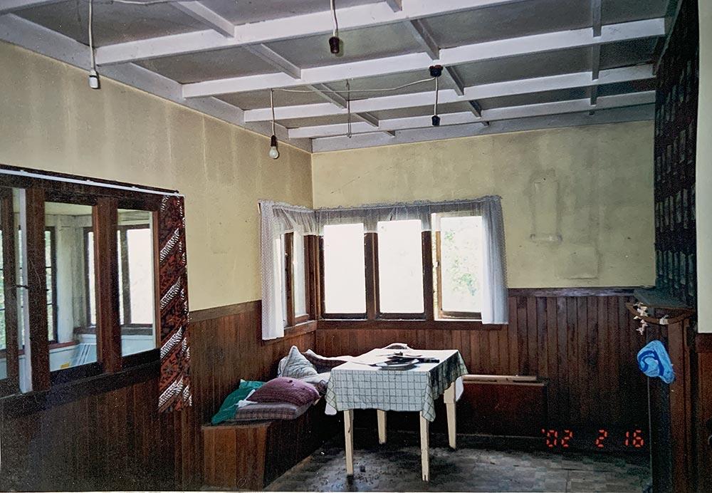 Dining room prior to restoration