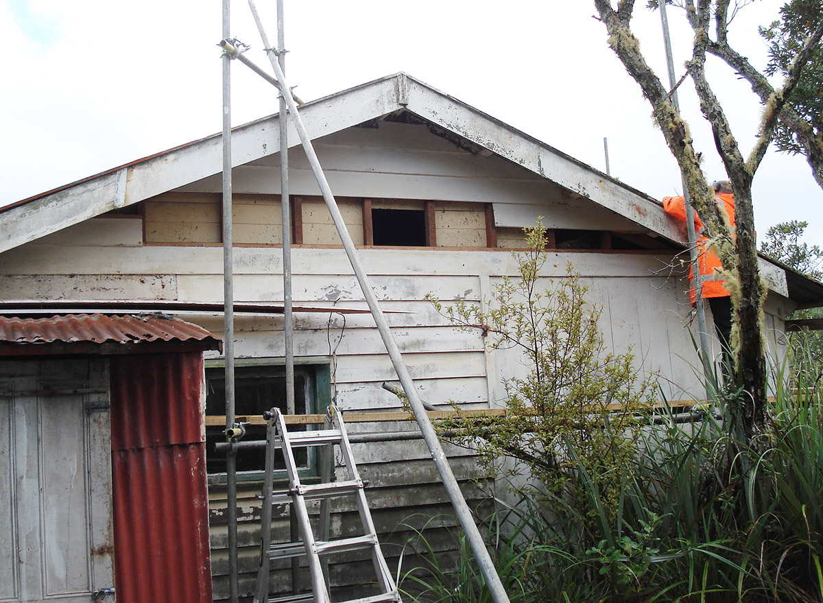 Bach 78 - structure work and siding replacement